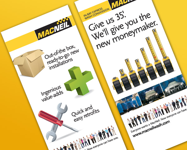 Macneil Car Wash Equipment >> MacNeil Wash Systems Brand Campaign | Mettle Creative Services: freelance design and writing
